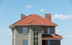 New home and roof Stock Image