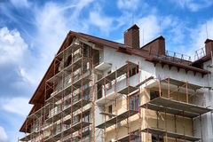 New home and roof building Royalty Free Stock Photo