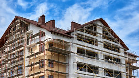 New home and roof building Royalty Free Stock Image