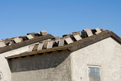New home roof construction Royalty Free Stock Images