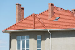 New home and roof Stock Images