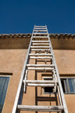 New home roof construction and ladder Royalty Free Stock Image
