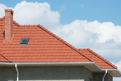 New home and roof Royalty Free Stock Image