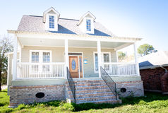 New Home: Southern Style House with Dormer Windows Stock Photography