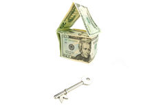 New home symbol with key Royalty Free Stock Image