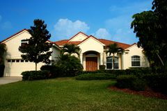 New Home in Tropics stock image