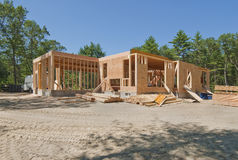 New home under construction. With only the lower level built Royalty Free Stock Photo
