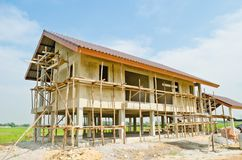 A new home under construction Royalty Free Stock Images