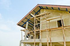 A new home under construction Royalty Free Stock Photos