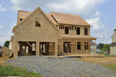 New home under construction. New single family home under construction Stock Images