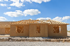 New Home Under Construction. Royalty Free Stock Photography
