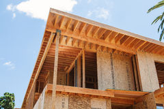 New home under construction in Los Angeles, USA Royalty Free Stock Photo