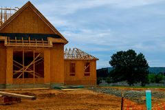 A new home under construction in NEW Jersey USA. A new home under construction in NEW Jersey NEW YORK USA Royalty Free Stock Image