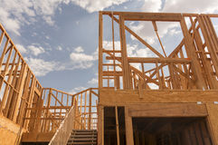 New home under  construction Stock Images