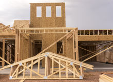 New home under  construction Royalty Free Stock Image