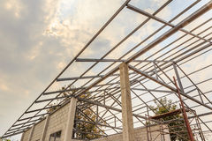 New home under construction site Royalty Free Stock Photos