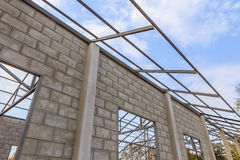 New home under construction site Stock Images