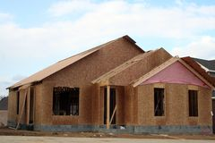 New home underway. New construction royalty free stock images
