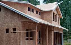 New home. View of a new home still under construction Stock Photos
