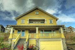 New Home Yellow Siding Royalty Free Stock Photo