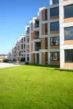 New homes. Brand new apartments with garden Royalty Free Stock Photo