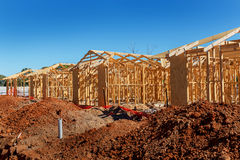 New Homes Construction Royalty Free Stock Photos