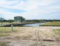 New homes on Florida waterfront Stock Photo