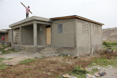 New Homes in Haiti Royalty Free Stock Photography
