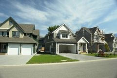 New Homes Houses Neighbourhood Stock Photo