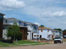 New Homes at Mockingbird Station,SMU East. On the back side of these new homes lies the campus of SMU and the George Bush Presidential Library. The Katy Trail Stock Photos