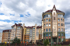 New homes of Omsk. Streets and new homes  in Omsk Stock Images