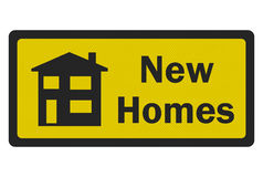 'New Homes' photo realistic sign Royalty Free Stock Image