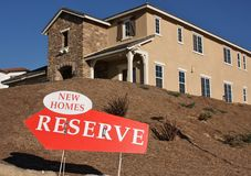 New Homes. Reserve Sign stock image