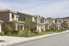 New Homes in a Row Stock Photography