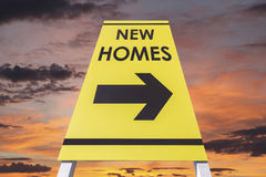 New Homes Sign Stock Photography