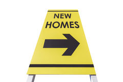 New Homes Sign Isolated Stock Images