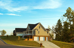 New Homes on the Slope Royalty Free Stock Photos