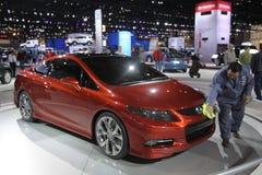 New Honda Civic coupe. Chicago auto show February 2011 Stock Image