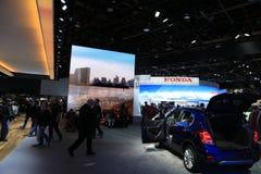 New 2018 Honda vehicles on Display at the North American International Auto Show. New Vehicles unveiled and displayed at the North American International Auto stock photo