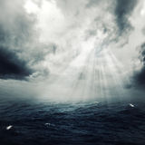 New hope in the stormy ocean Stock Image