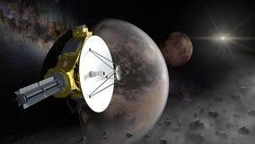 New Horizons flygparadPluto in i det Kuiper bältet royaltyfri fotografi