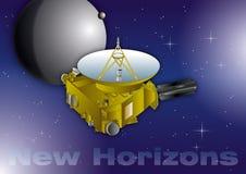New Horizons interplanetary space probe, vector illustration royalty free stock image