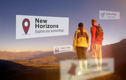 New Horizons Travel Explore Position Concept. Horizons Travel Explore Position Concept royalty free stock photos