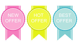 New hot offer stickers Stock Photos