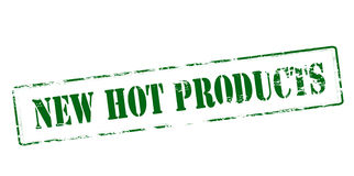 New hot products. Rubber stamp with text new hot products inside, vector illustration Royalty Free Stock Photography
