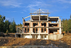 New hotel in construction royalty free stock images