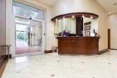 New hotel interior - reception area Royalty Free Stock Photos