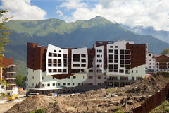 New hotel in Krasnaya Polyana Royalty Free Stock Images