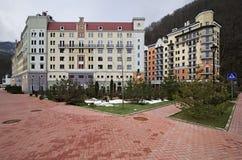 New Hotels in Rosa Khutor Alpine Resort Stock Photos