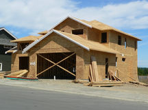 New House. A house under construction stock photo
